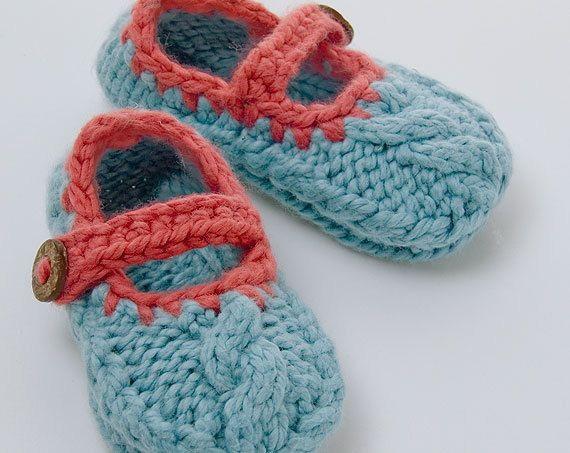 Knitted Baby Shoe Pattern Mary Jane Cable Shoe Kid Pinterest
