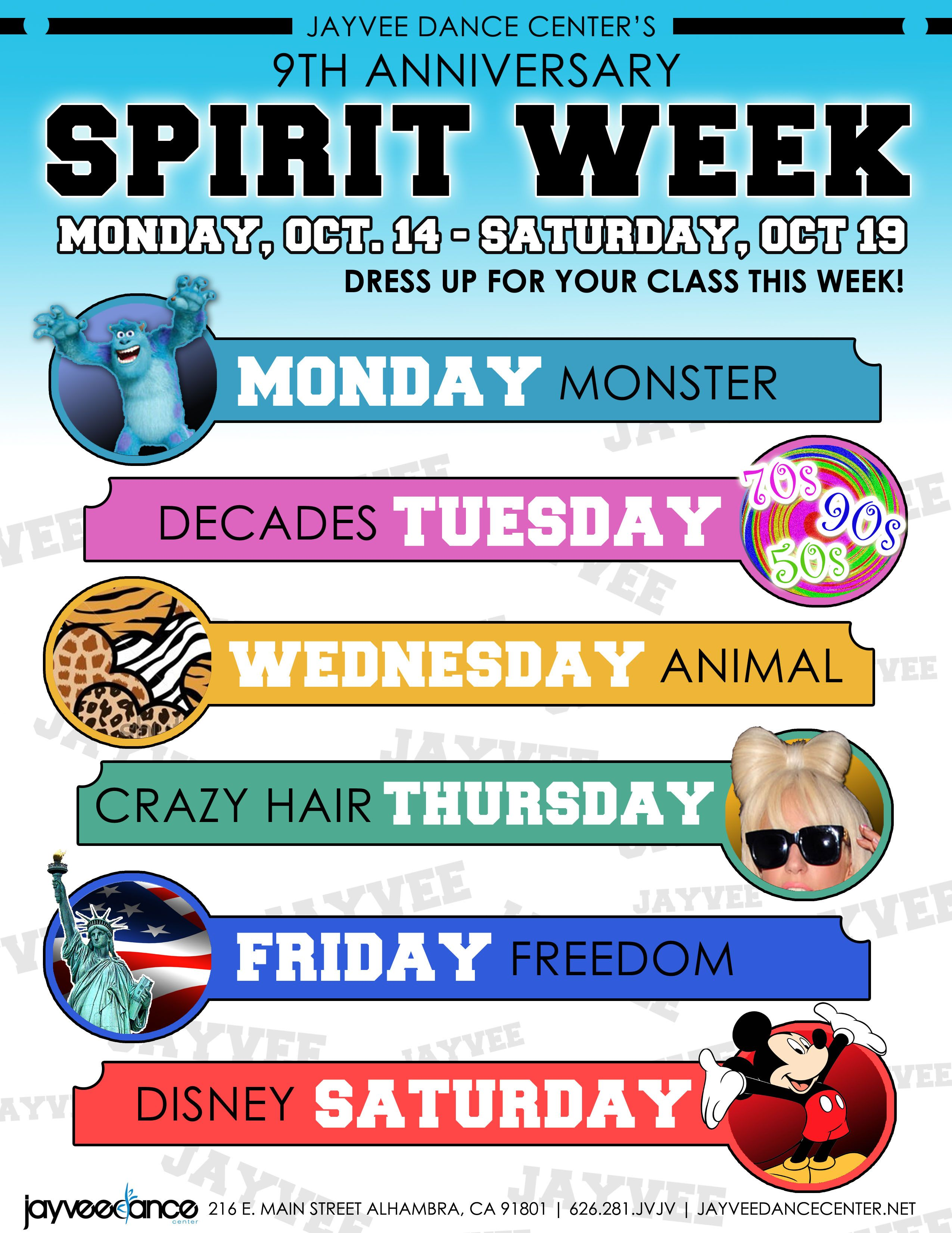 spirit week … … spirit, School spirit days