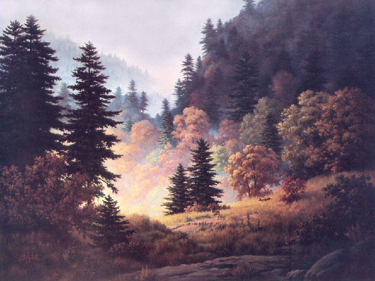 Celebration Of Woodlands Dalhart Windberg Painting Woodland Artist