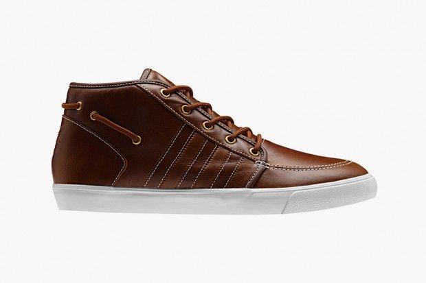 brand new 8a459 de7a8 Adidas Originals Leather Court Deck Vulc Mid