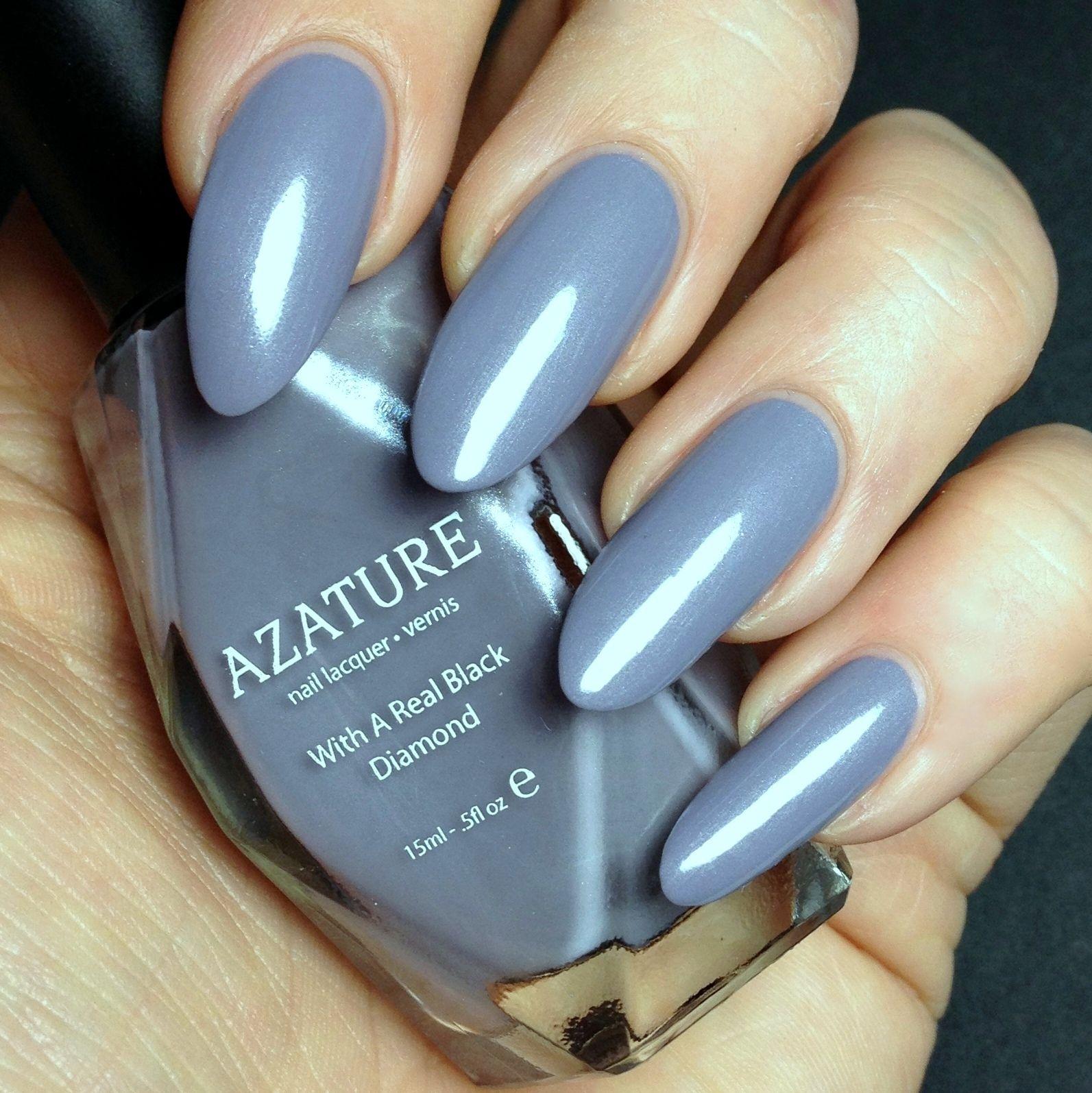 Azature Light Purple Diamond   Light purple and Diamond nails