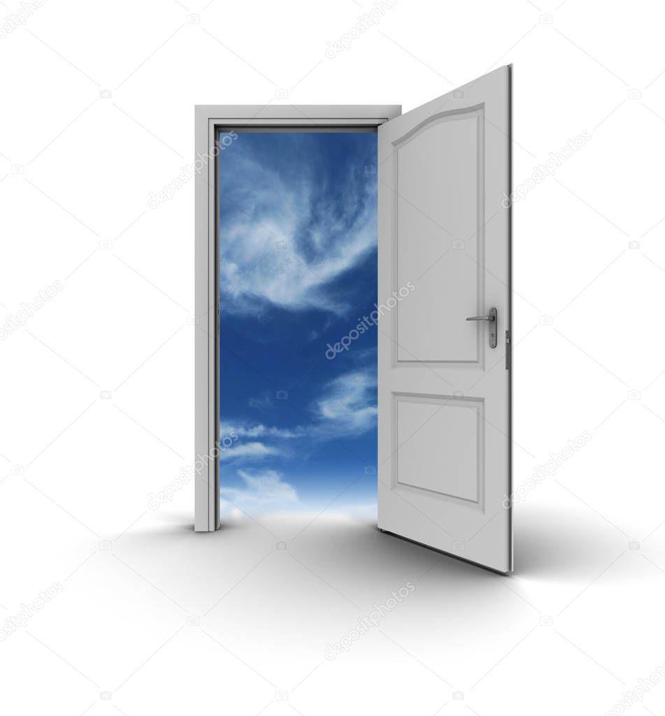 White Open Door Sky Stock Photo Sponsored Door Open White Photo Ad Sky Stock Photos Photo