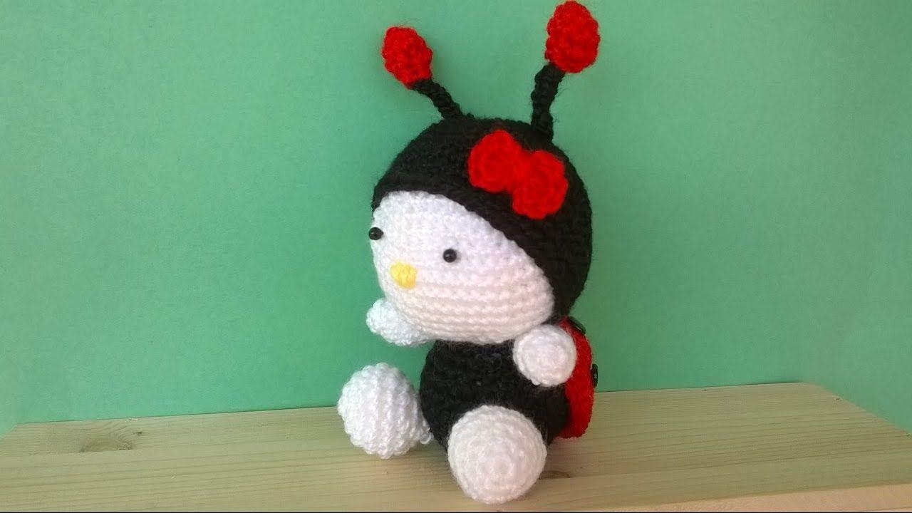 Kitty Mariquita Amigurumi : Tutorial Coccinella Uncinetto -Amigurumi Ladybug Crochet ...