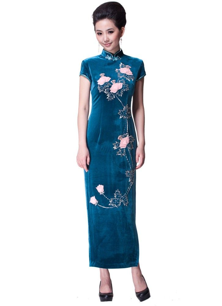 Traditional & Cultural Wear 2018 New High Fashion Red/pink Chiffon Cheongsam Aodai Chinese Classic Womens Qipao Elegant Short Sleeve Novelty Long Dress