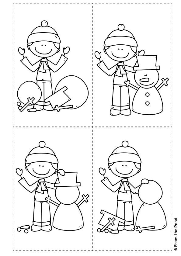 let 39 s build a snowman sequence and write visual text kindergarten snowman winter kids. Black Bedroom Furniture Sets. Home Design Ideas