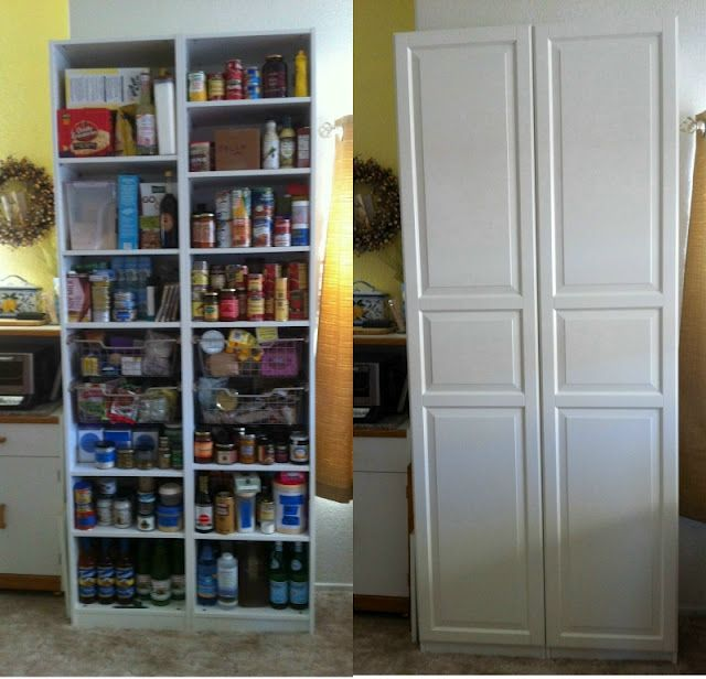 Tall Thin Pantry Storage Made From 2 Pax Cabinets Together