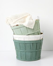 Vintage Painted Orchard Baskets | Step-by-Step | DIY Craft How To's and Instructions| Martha Stewart