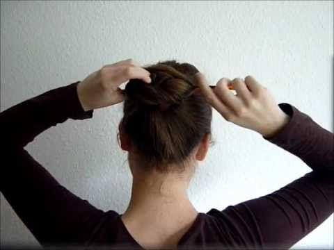 Lazy Wrap Bun Wickeldutt Mit Haarstab Haarstab Haar Styling Lange Haare