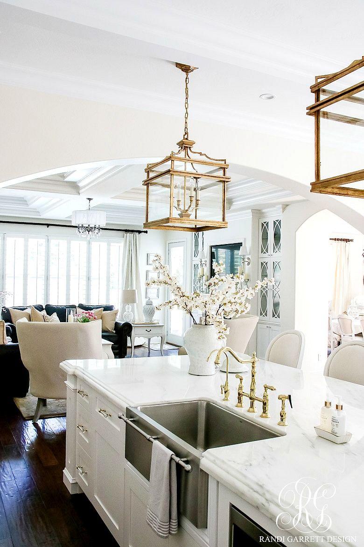 Dark to Light Kitchen Before and After - Elegant White Kitchen ...