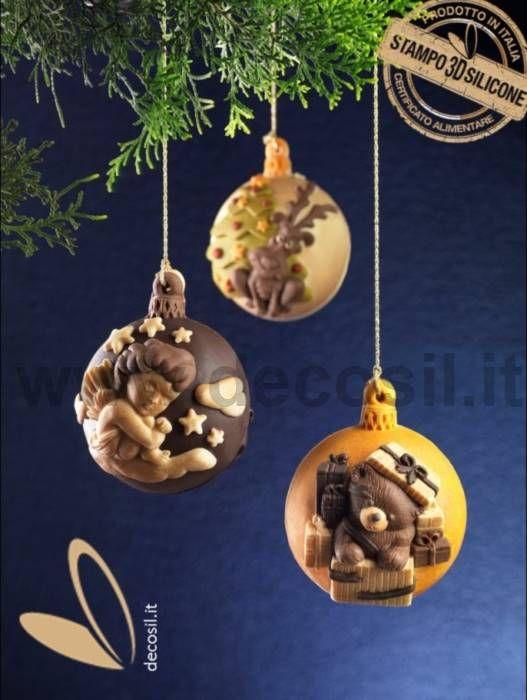 Addobbi Natalizi 3d.Stampo Pallina Di Natale Di Cioccolato Regalorso Decorazioni