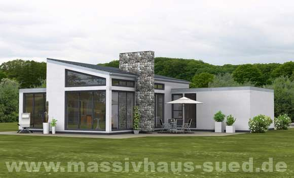 Massivhaus bungalow mit garage  Bungalow, Typ Bungalow 159 | Bungalows | Pinterest