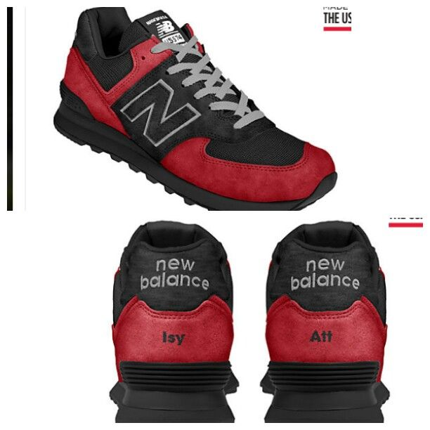 New Balance 574 with personalised name