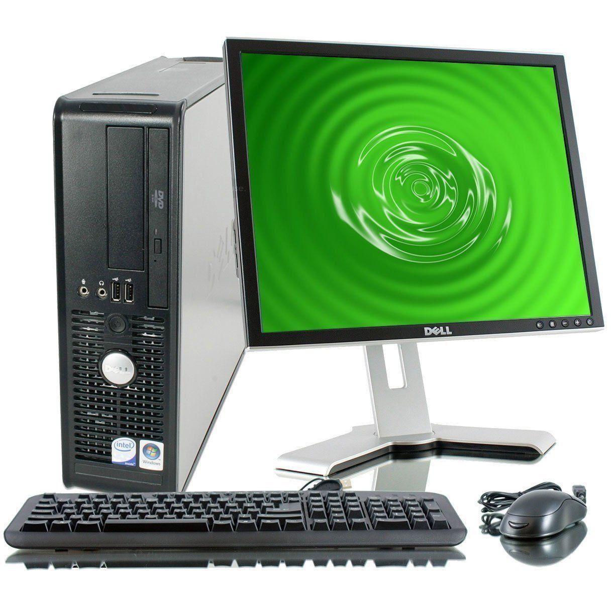 Dell Optiplex 745 Desktop 1tb Hard Drive Windows 7 Professional Os Keyboard Mouse Usb 19 Lcd Monitor Speakers