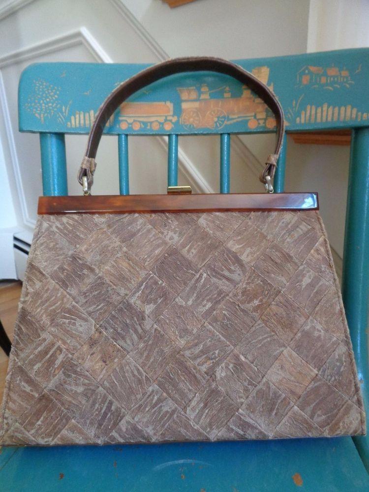 Vintage Handbag Shoulder Bag Purse Bakelite Trim Unusual Weave  | Clothing, Shoes & Accessories, Vintage, Vintage Accessories | eBay!