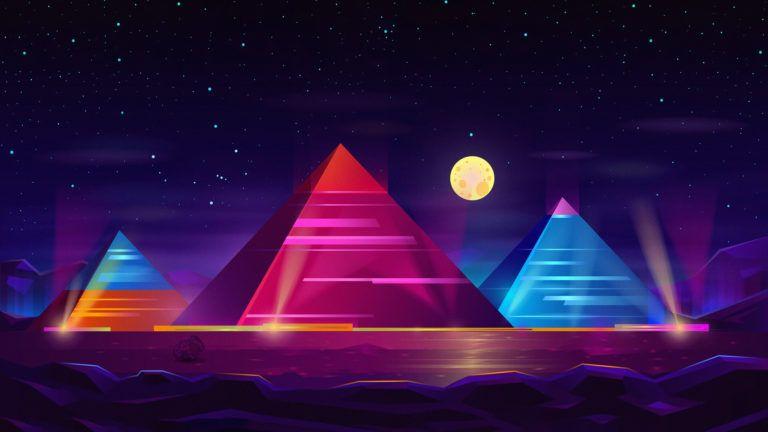 Pyramid Colorful Neon 4k 3u 3840x2160 Hd Wallpapers 1080p Download Full Hd Wallpaper Download Www F Watercolor Wallpaper Iphone Hd Wallpapers 1080p Pyramids