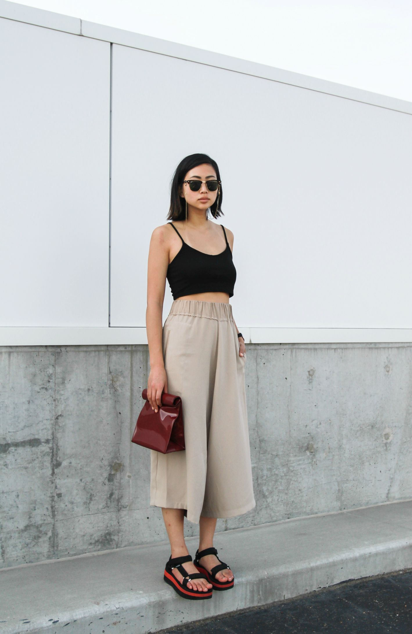 Alyssa Lau from the Ordinary People wearing the sustainable and ethically  made Shaina Mote Gion Pant from New Classics Studios. 4d72c7c2f539