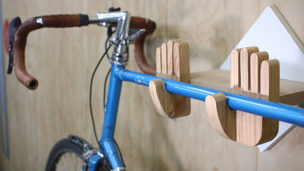 Built This Handy Bike Wall Mount Let Me Know What You Think Diy
