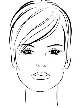 woman with short hair 02 Royalty Free Stock Vector Art Illustration