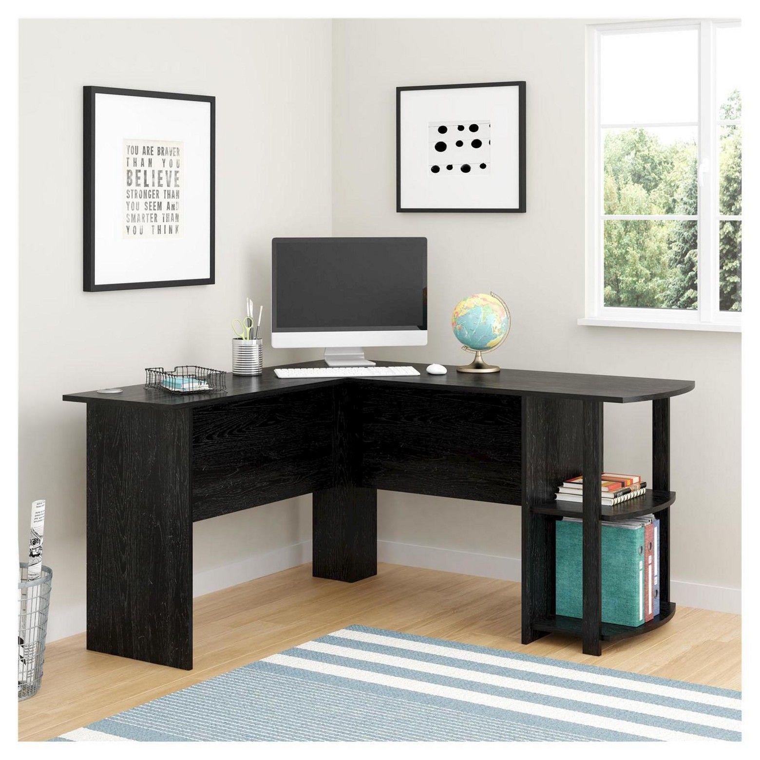 Altra dakota lshaped desk with bookshelves large desk open