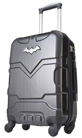 7da0d97e9c6 This Batman themed PC Trolley Case is part of Bags Only Superhero Luggage  month. The hard trolley has a mirror finish with 4 rotating wheels