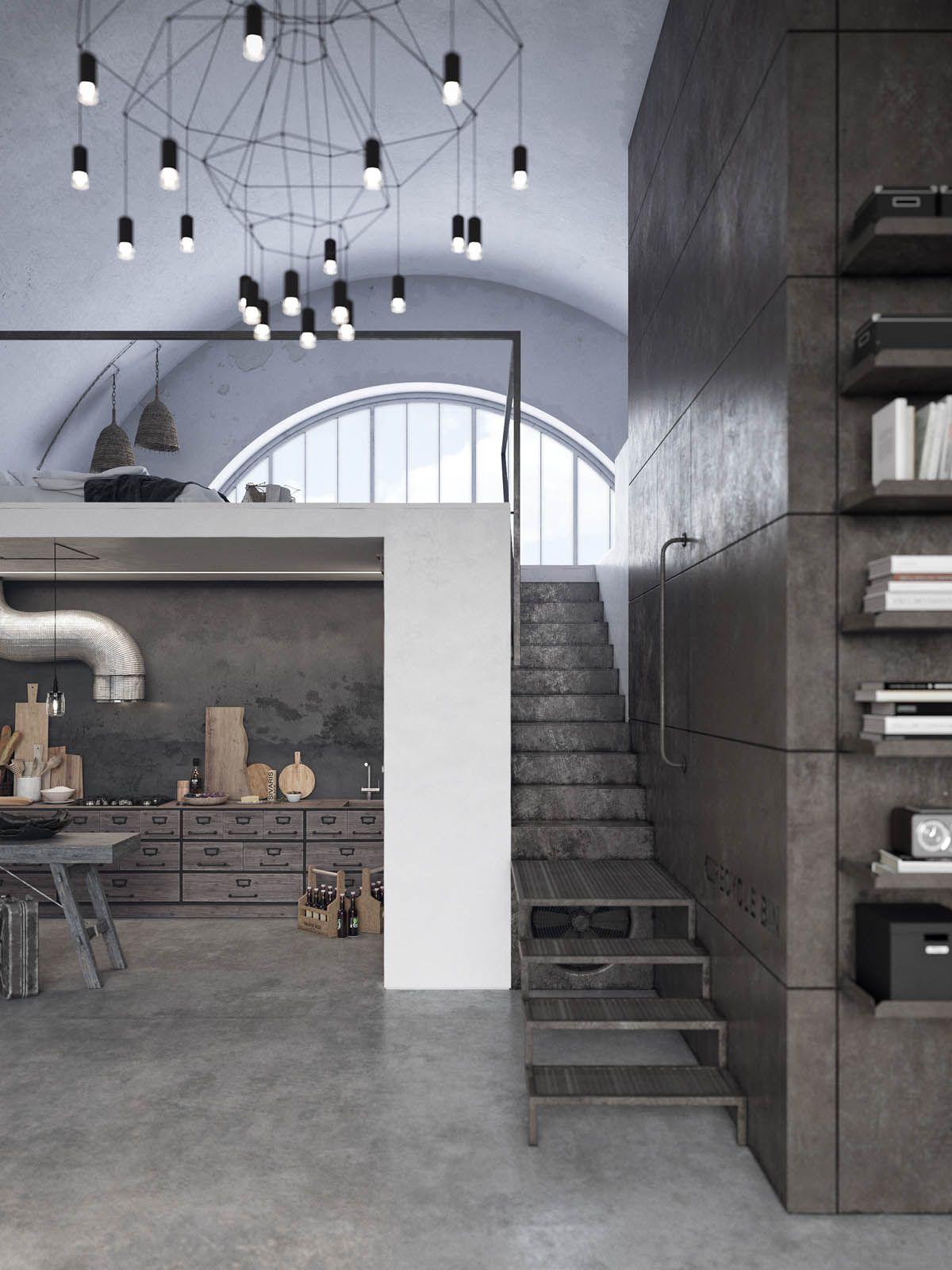 Two Examples Of Industrial Modern Rustic Interior Design Interior Design Rustic House Decor Rustic Rustic Chandelier