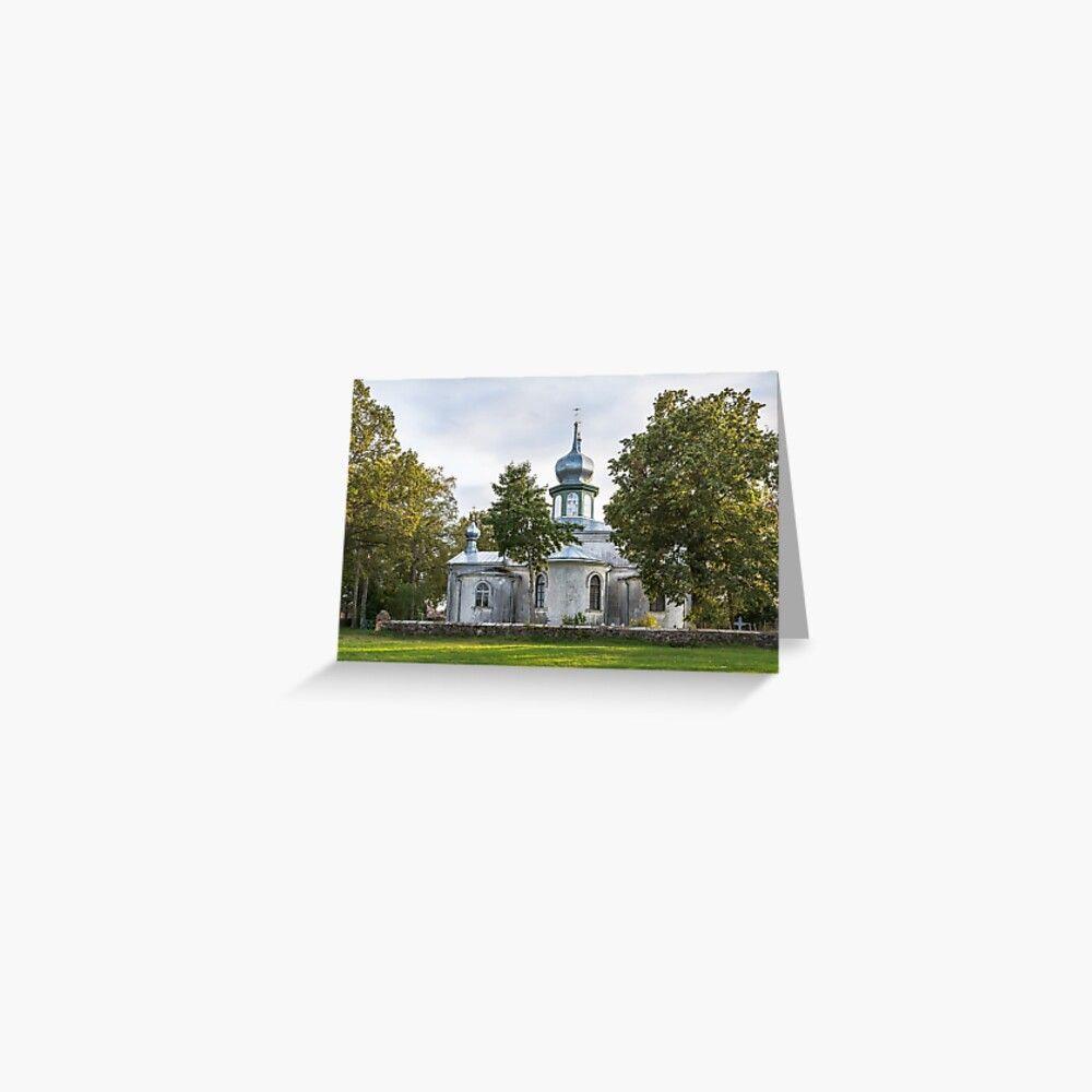 'Church among the trees' Greeting Card by lena-maximova