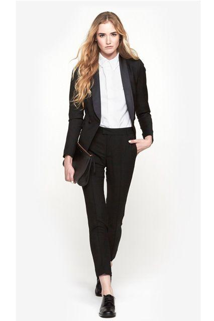 Black Formal Pantsuit For Wedding
