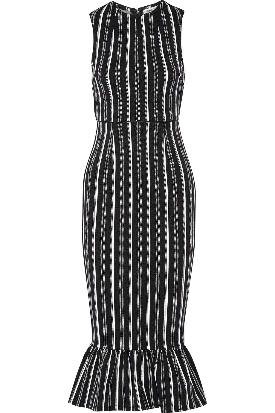 OPENING CEREMONY Lotus striped textured-jersey dress. #openingceremony  #cloth #dress