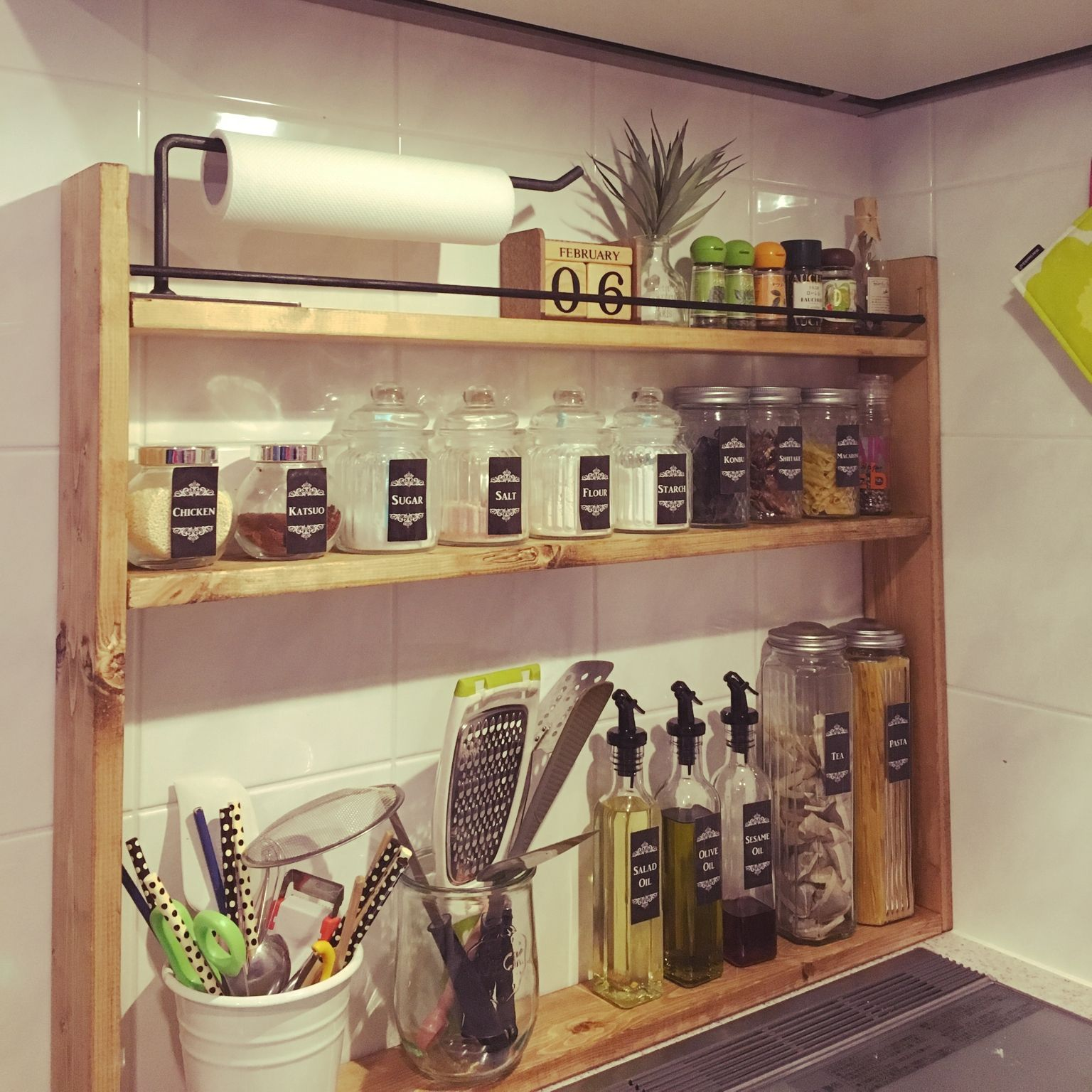 Diy 棚 調味料 の画像検索結果 インテリア 収納 キッチンアイデア