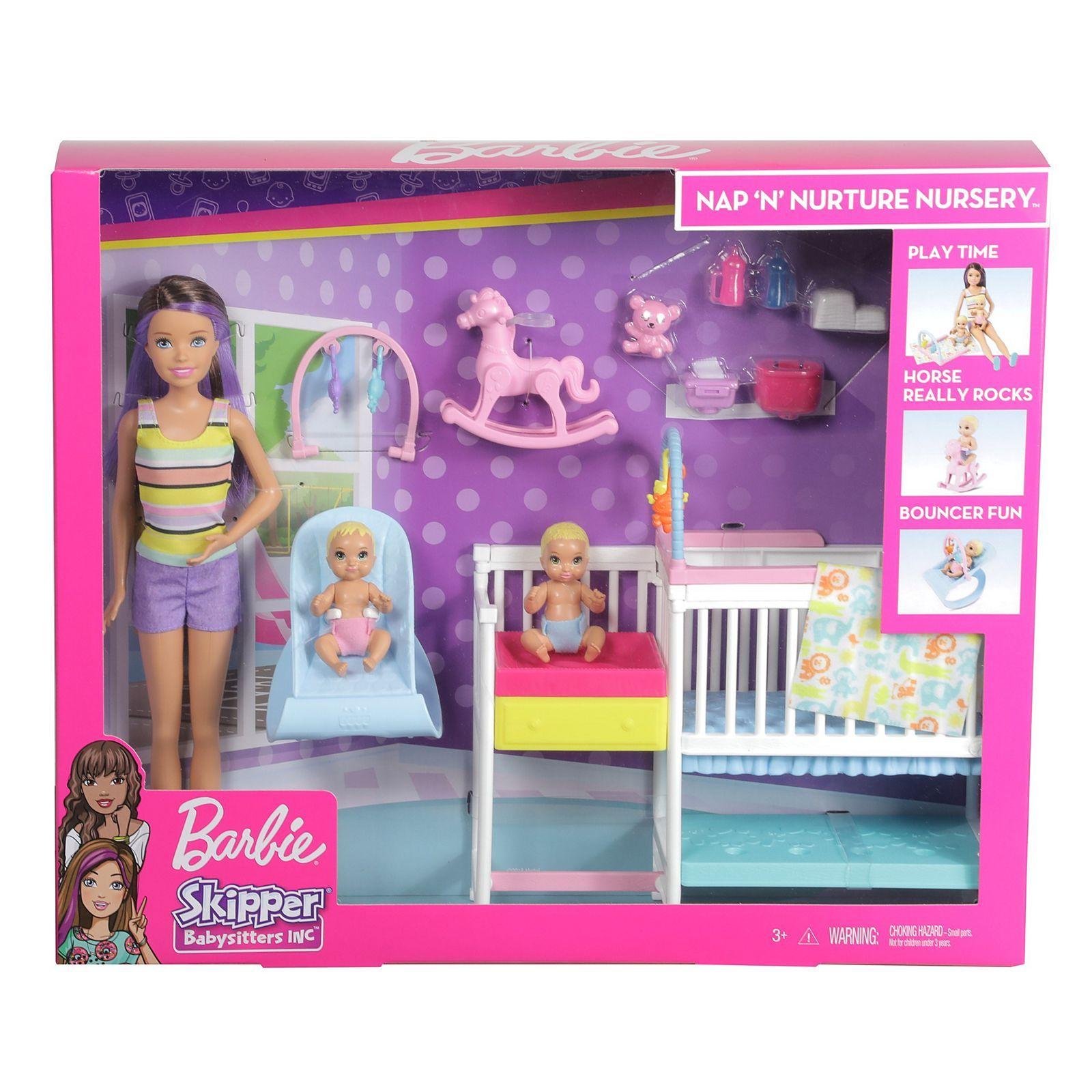 Barbie Skipper Babysitters Inc Nap 'n' Nurture Nursery