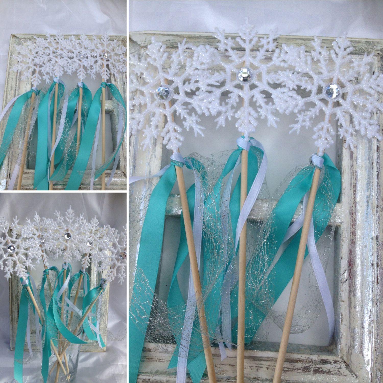 Frozen wands Frozen Favors Frozen birthday Snowflake Wands