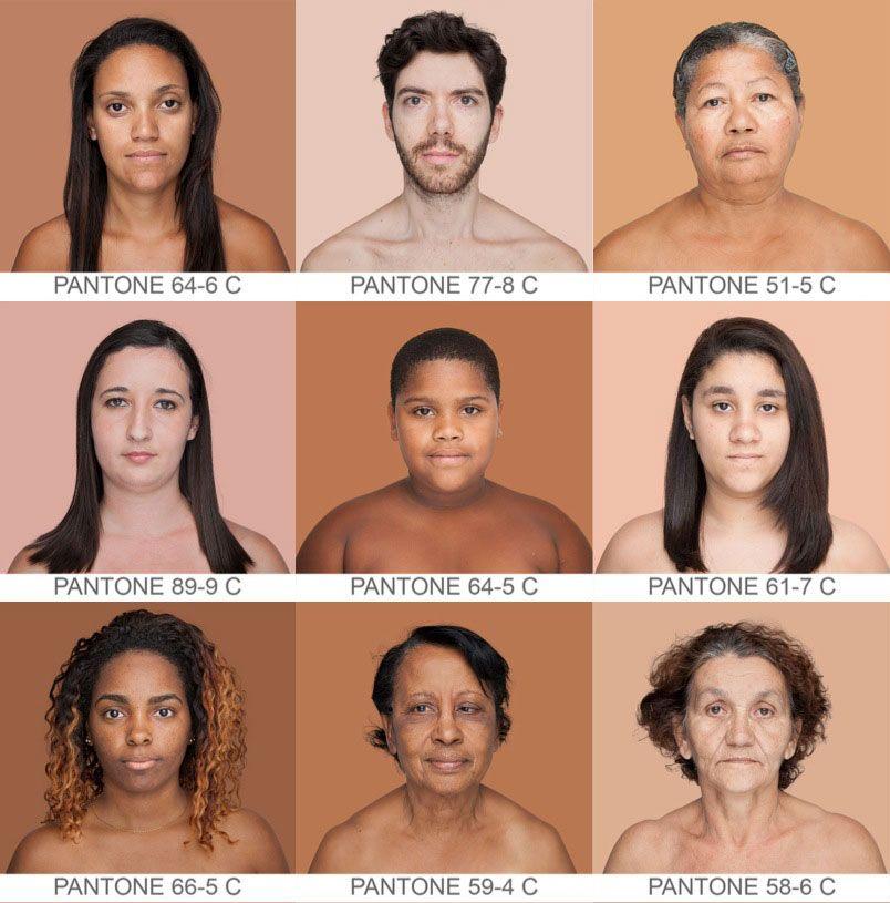Cuál Es Tu Color Pantone Humanae El Mayor Inventario De Color De La Piel Humana De La Historia Colores De Piel Piel Humana Proyectos De Fotografía