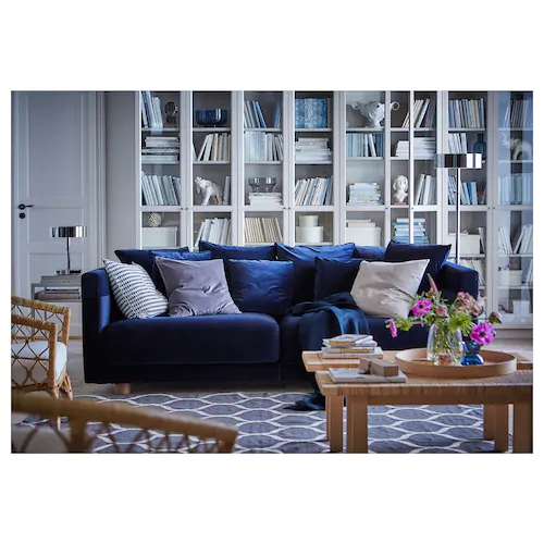 STOCKHOLM 2017 Sofa, Sandbacka dark blue - IKEA  Best Picture For  ideas for valentines day for him  For Your Taste  You are looking for something, and it is going to tell you exactly what you are looking for, and you didn't find that picture. Here you will find the most beautiful picture that will fascinate you when called  ideas for valentines day for him . When you look at our dashboard, you can see that the number o... #blue #dark #IKEA #Sandbacka #Sofa #STOCKHOLM #stue inspirasjon ikea