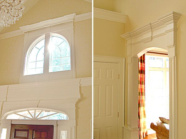 arched doors with crown molding and keystones - Google Search ...