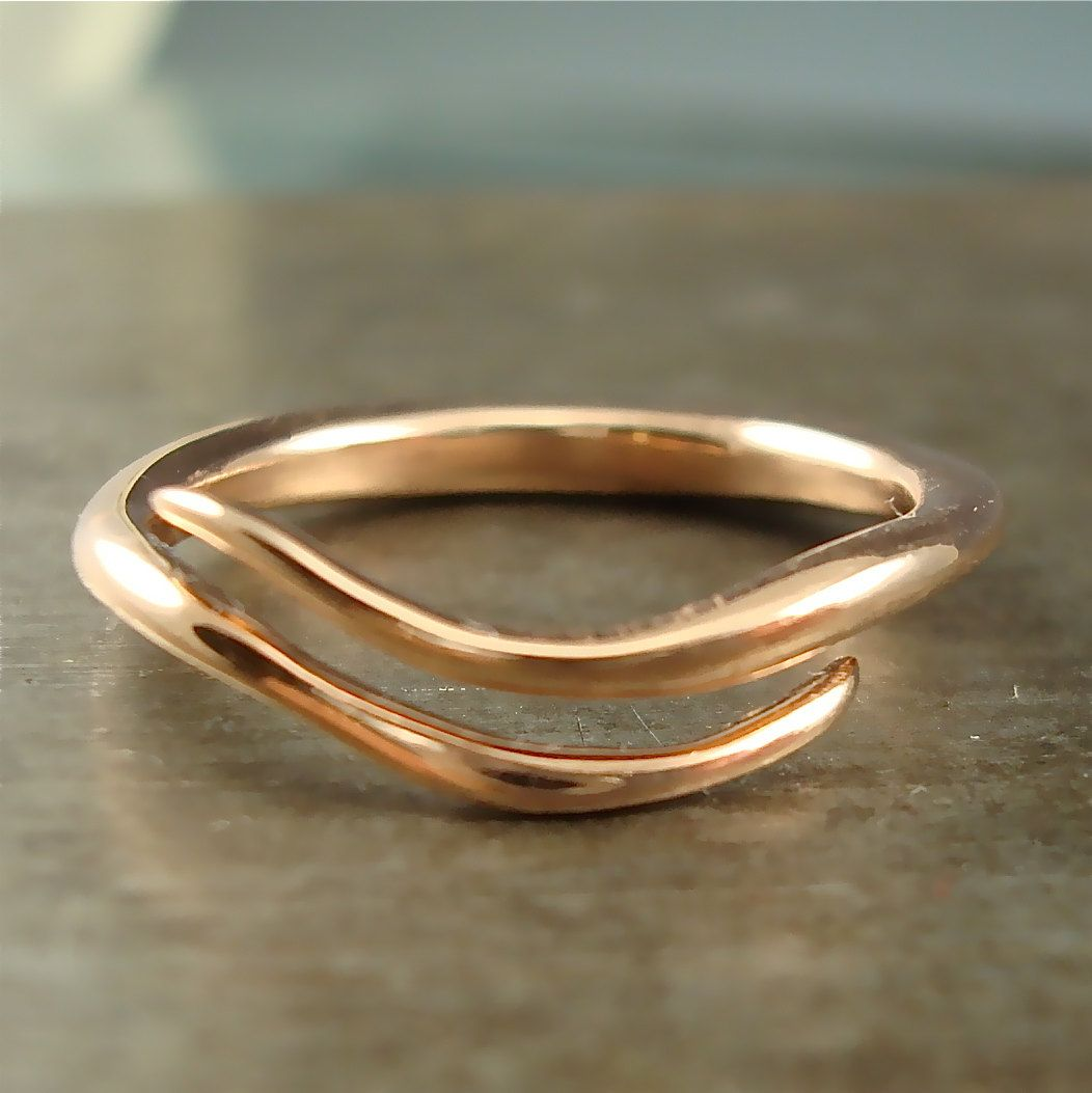 Rose Gold Wave Vine Ring by http://etsy.com/shop/daniellejewelry ...
