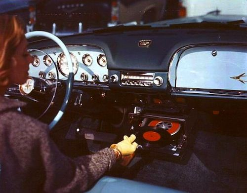 Amazing Photos Of A Time When Cars Had Vinyl Record Players The Vinyl Factory Record Players Car Stereo Record Player