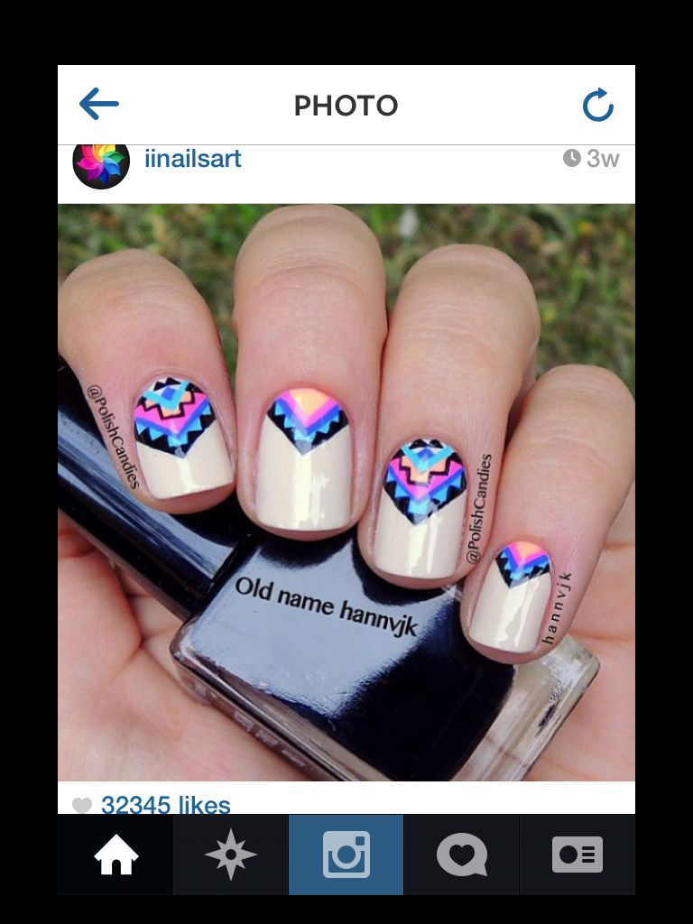 Nails polish | Nails | Pinterest | Nail nail, Manicure and Aztec ...