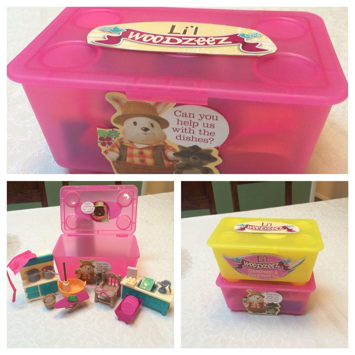Childrens Kids Bedroom Furniture Set Toy Chest Boxes Ikea: Lil Woodzeez Storage. IKEA Hack. My Daughter Got Lil