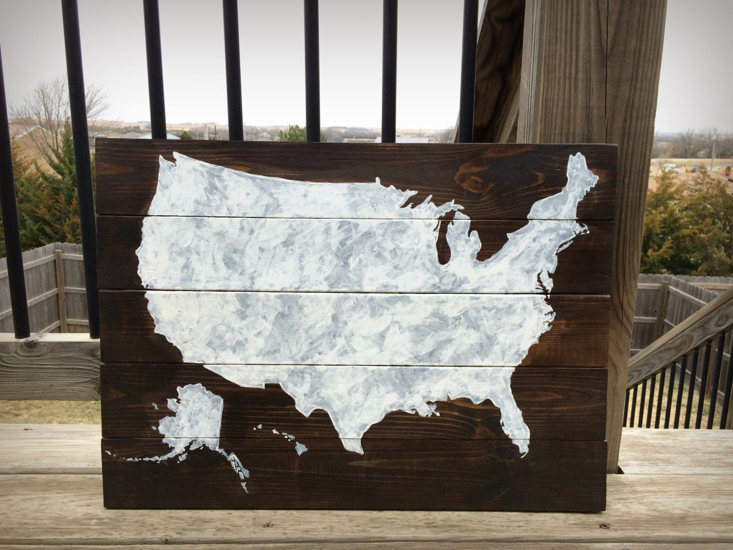 United States Cut Out From Pallets Etsy Potential Auction Class - How to do us map on pallet