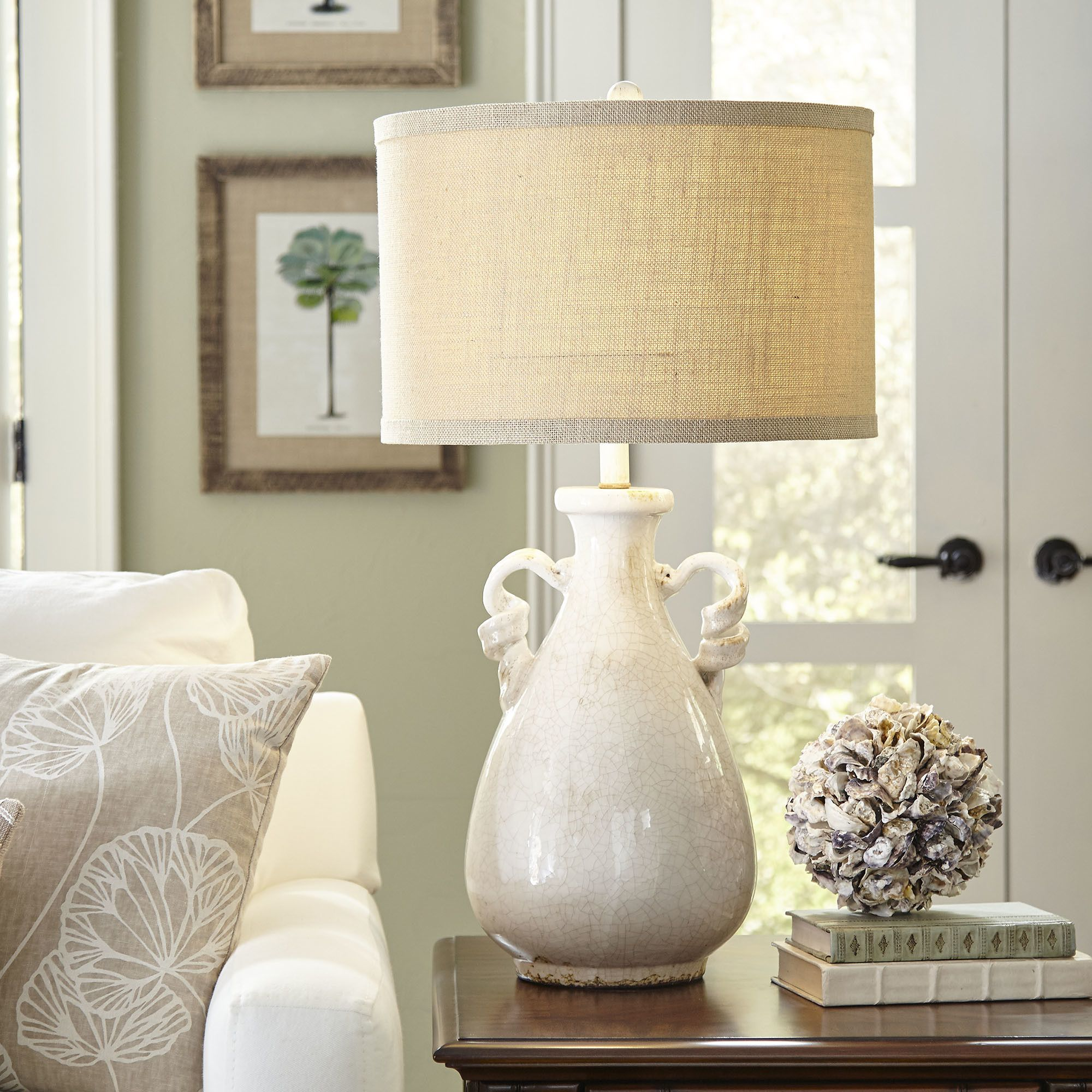Asheville Table Lamp Crafted with a base that mimics