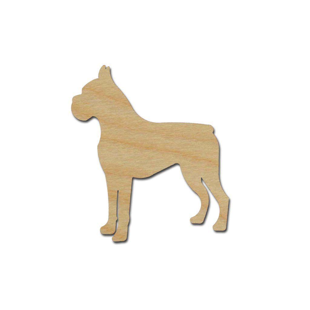 Boxer Dog Laser cut mdf wood shape craft arts decoration ALL SIZES