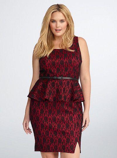 The peplum dress: $74.50 (US) - will create the all-important illusion #RebelWillson #Torrid
