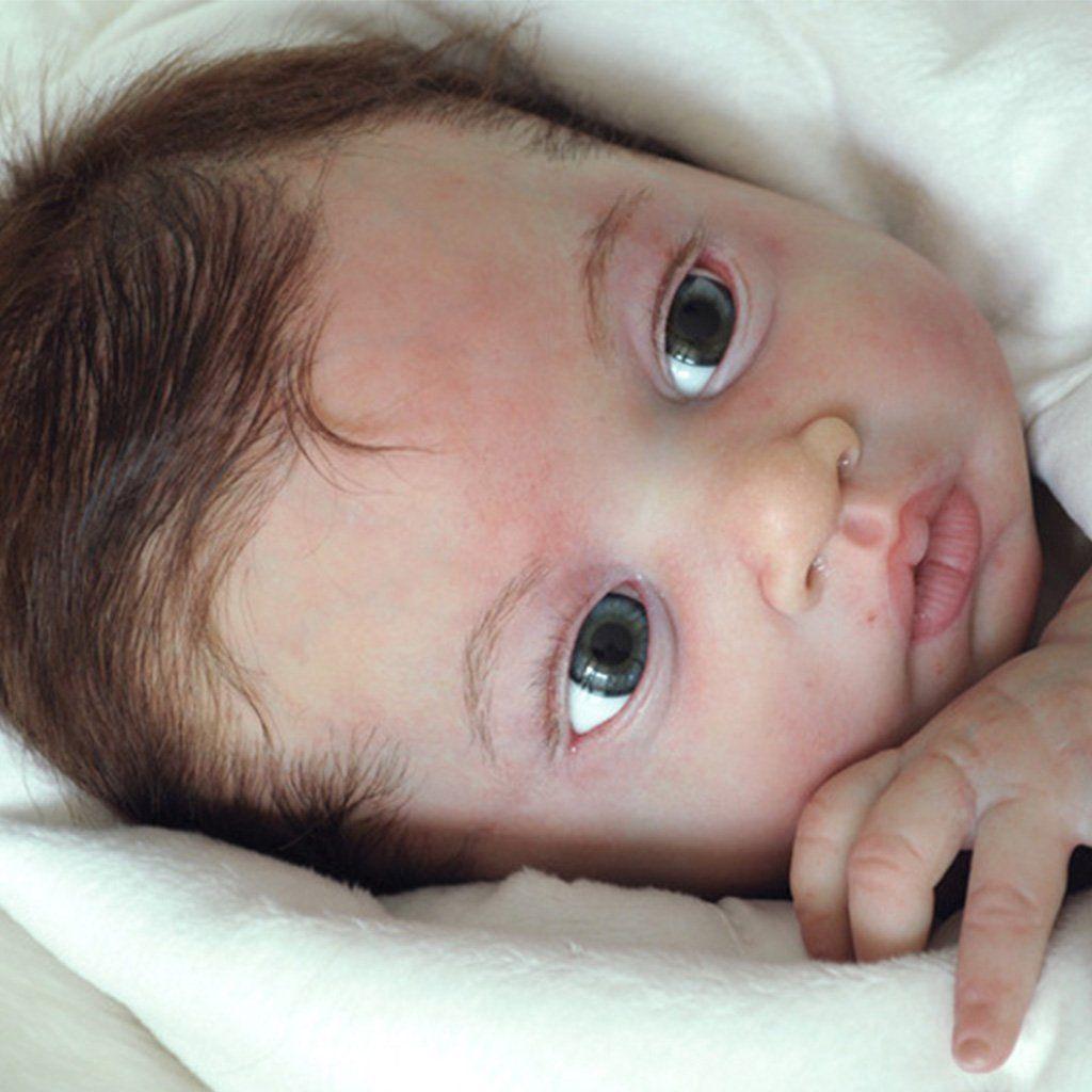 "Real Life 22/"" Reborn Doll Kits Making Supplies Unpainted Silicone Blank Doll Kit"