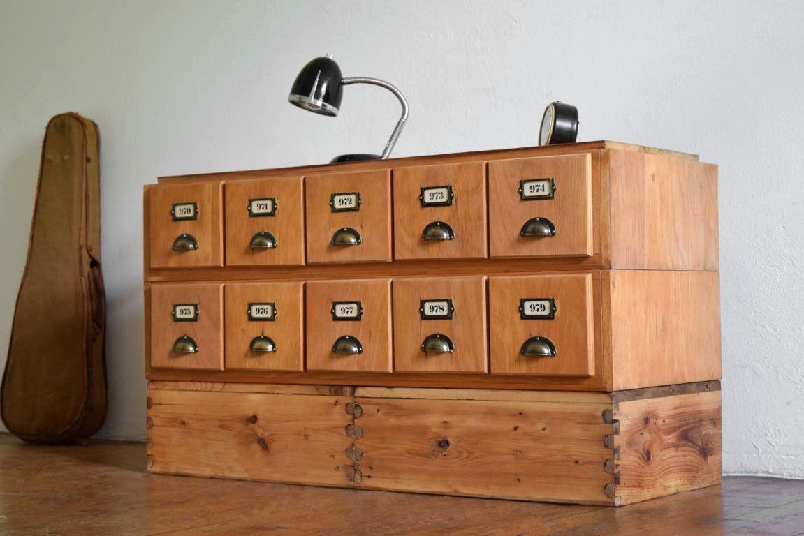 Apothekerschrank Holz Antik