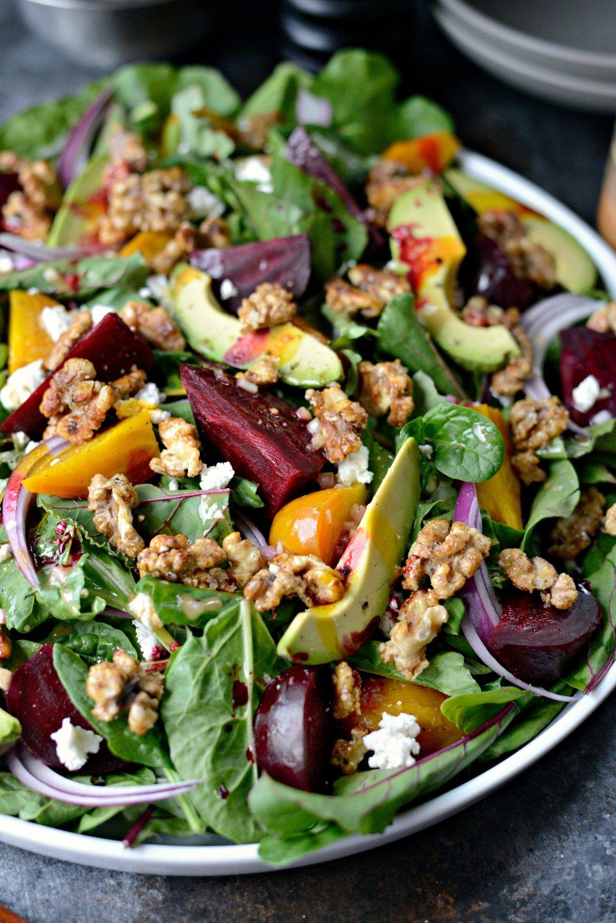 Roasted Beet Salad with Honey Dijon Vinaigrette -