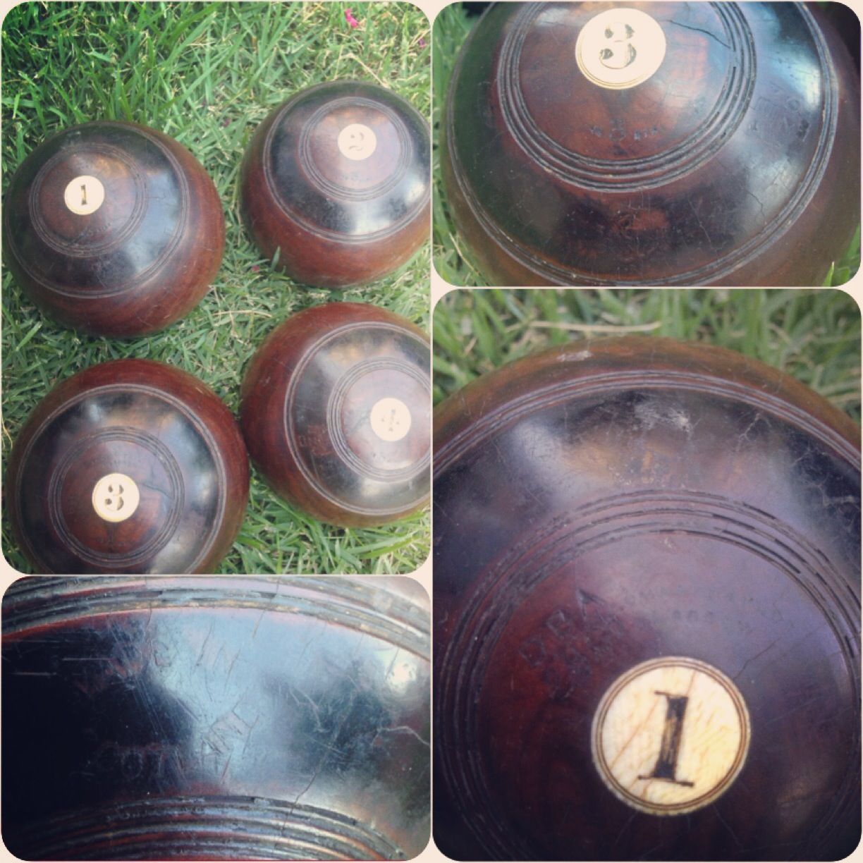 Antique lawn bowling set from scottish maker thomas taylor glasgow antique lawn bowling set from scottish maker thomas taylor glasgow geenschuldenfo Choice Image