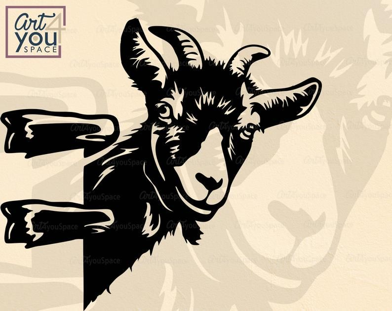 Goat Svg Files For Cricut Funny Farm Animal Face Clipart Etsy Farm Animals Goats Funny Goats