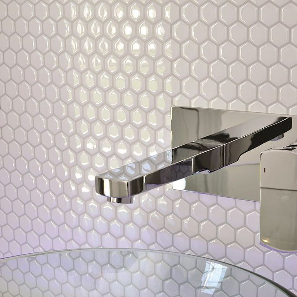 Peel And Stick Backsplash Mosaic Metallic Glass Tile Kitchen Diy