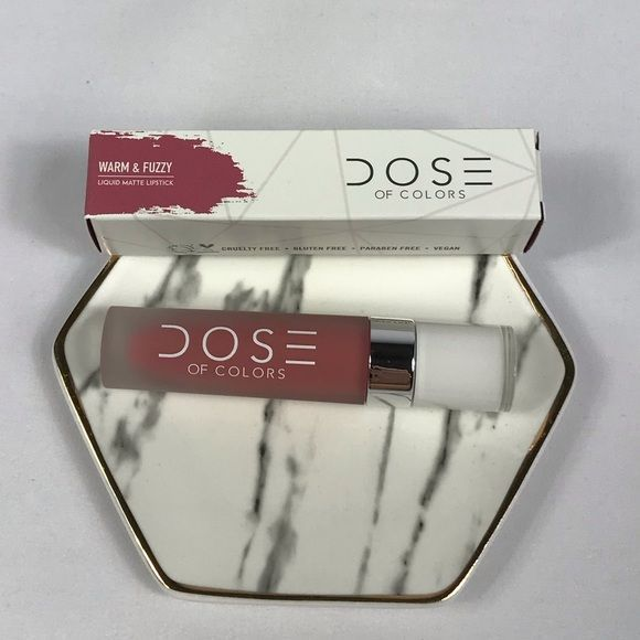 Dose of Colors Matte Liquid Lipstick Warm Fuzz NWT2CDose of Colors Matte Liquid Lipstick Brand New In Box Shade: Warm Fuzzy warm rose Size: 016 OzFeatures: long wearing highly pigmented ultra comfortable applies as a creamy liquid but dries down to a matte finish vegan Cruelty free glutenfree para #doseofcolorswarmandfuzzy Dose of Colors Matte Liquid Lipstick Warm Fuzz NWT2CDose of Colors Matte Liquid Lipstick Brand New In Box Shade: Warm Fuzzy warm rose Size: 016 OzFeatures: long wearing highly #doseofcolorswarmandfuzzy