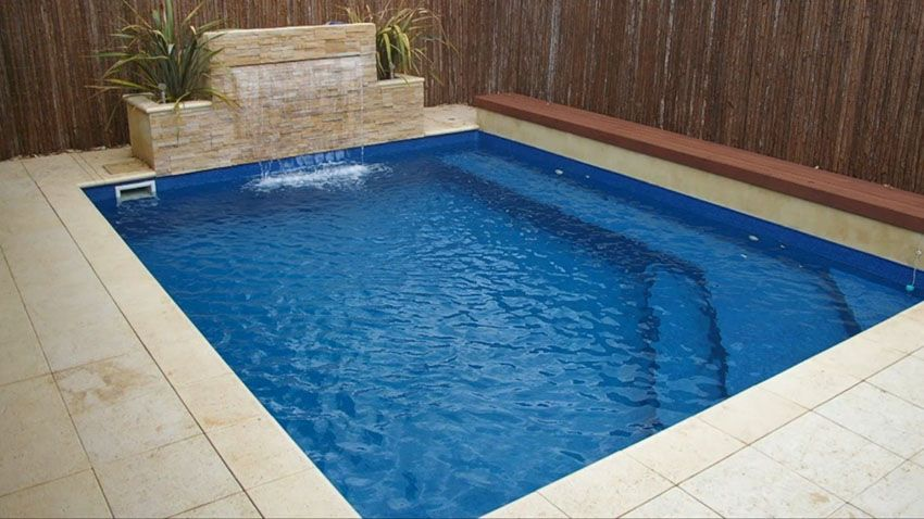 37 swimming pool water features waterfall design ideas - Rectangle Pool With Water Feature